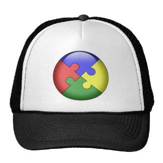 Autism Puzzle Ball Trucker Hat