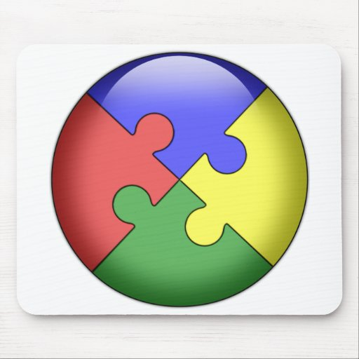 Autism Puzzle Ball Mouse Pad