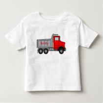 Autism Puzzle Big Truck NAME Tagless T-shirt 4-5T