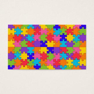 autism puzzle business card