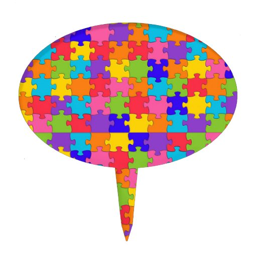 Cake Decoration Crossword Clue : autism puzzle cake toppers Zazzle