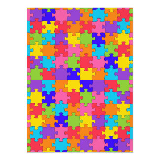autism puzzle card