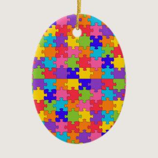 autism puzzle ceramic ornament