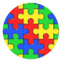Autism Puzzle Classic Round Sticker
