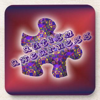 Autism puzzle drink coaster