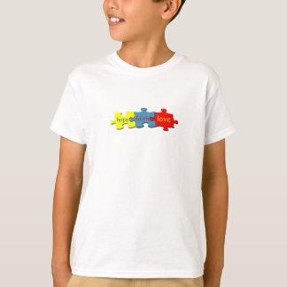 Autism Puzzle Faith Hope Love Kids T-shirt