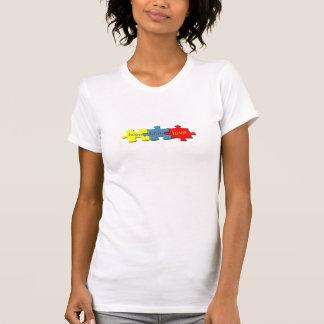 Autism Puzzle Faith Hope Love Ladies T-shirt