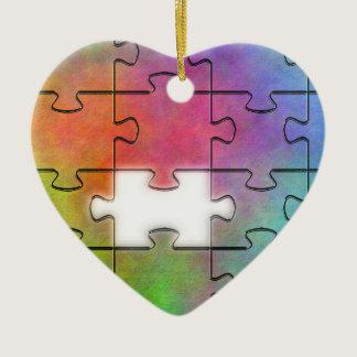Autism Puzzle -  Heart Ornament