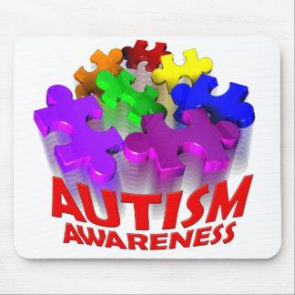 Autism Puzzle Jump! Mouse Pad