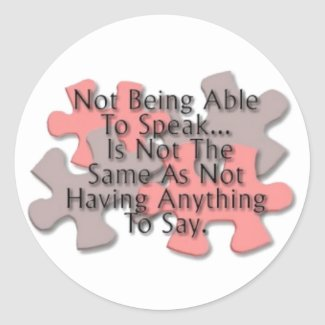Autism Puzzle: Not Speaking Round Sticker