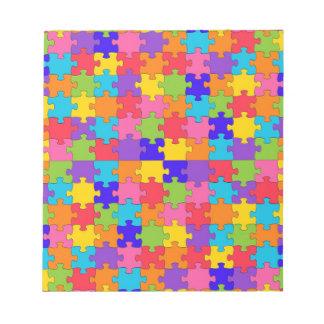 autism puzzle notepad