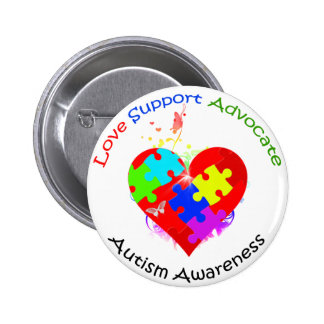 Autism Puzzle on Heart Button