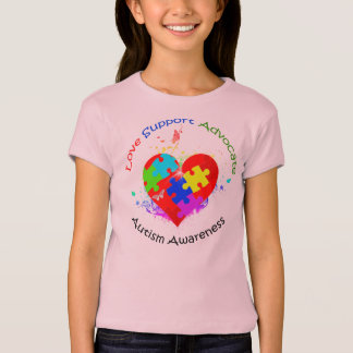 Autism Puzzle on Heart T-Shirt