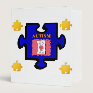Autism Puzzle Piece Avery Binder