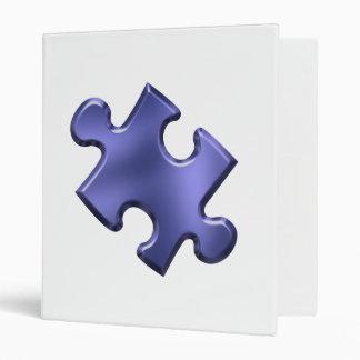 Autism Puzzle Piece Blue Vinyl Binders