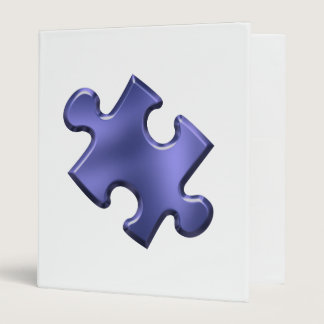 Autism Puzzle Piece Blue Binder