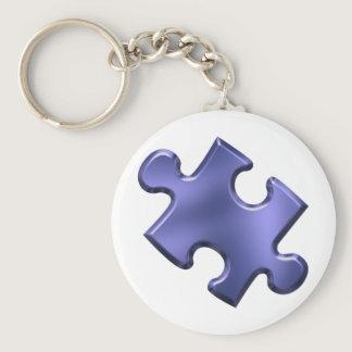 Autism Puzzle Piece Blue Keychain