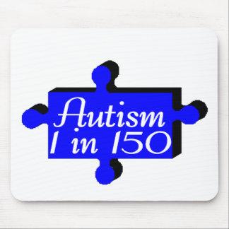 Autism Puzzle Piece Blue Mouse Pad