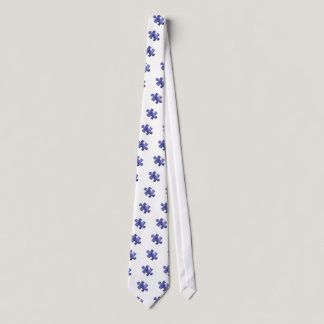 Autism Puzzle Piece Blue Neck Tie