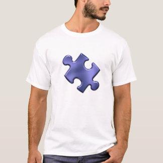 Autism Puzzle Piece Blue T-Shirt