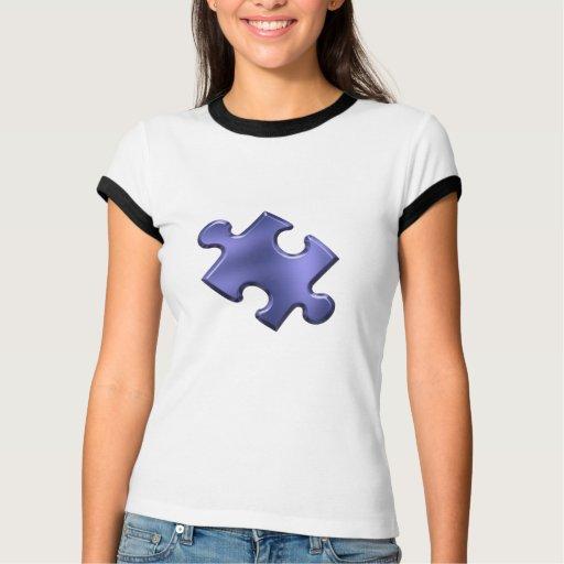 Autism Puzzle Piece Blue Tee Shirt