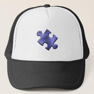Autism Puzzle Piece Blue Trucker Hat