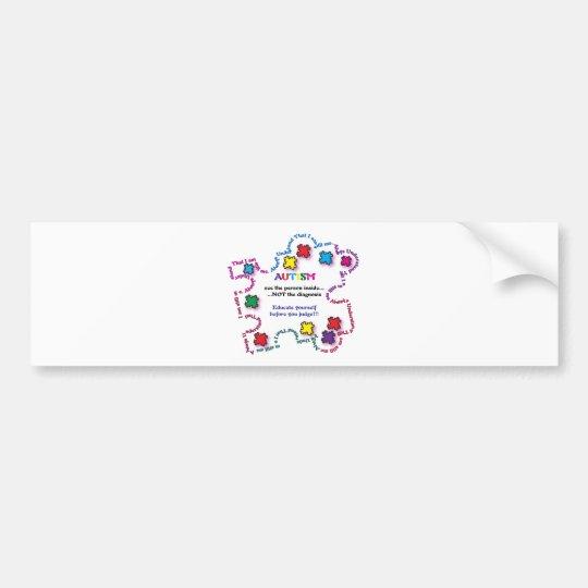 Autism Puzzle Piece Bumper Sticker