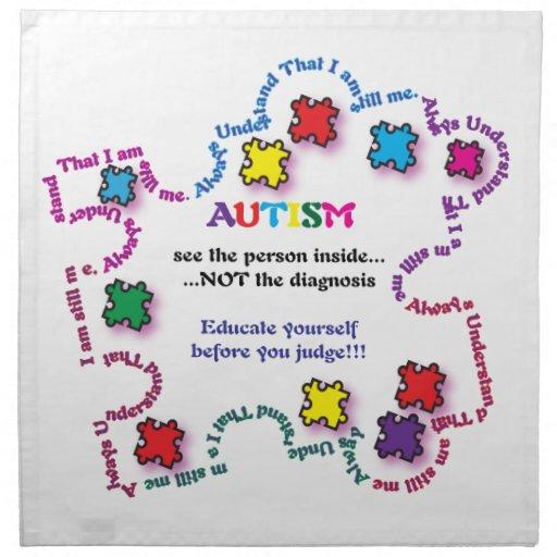 Autism Puzzle Piece Cloth Napkins