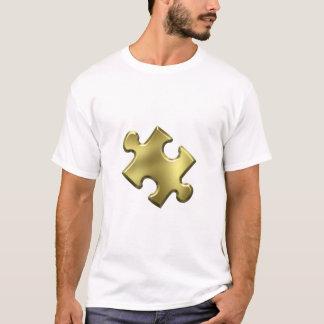 Autism Puzzle Piece Gold T-Shirt