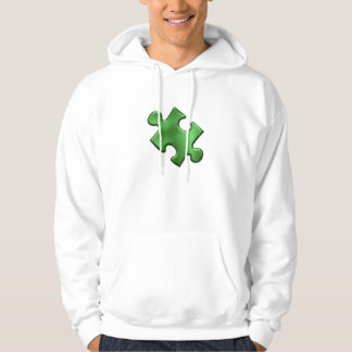 Autism Puzzle Piece Green Pullover