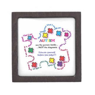 Autism Puzzle Piece Keepsake Box