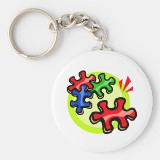 Autism puzzle Piece Key Chain