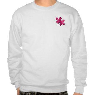 Autism Puzzle Piece Pink Pull Over Sweatshirt