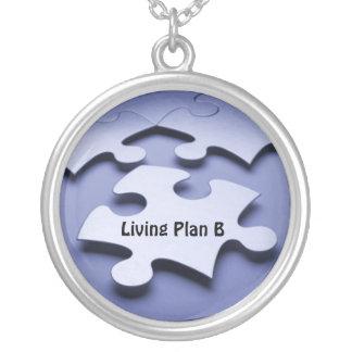 Autism Puzzle Piece Plan B Necklace