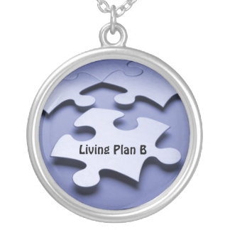 Autism Puzzle Piece Plan B Necklace