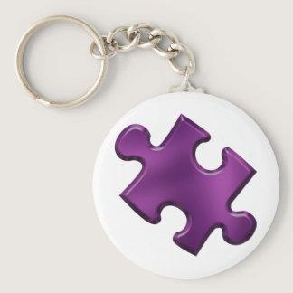 Autism Puzzle Piece Purple Keychain
