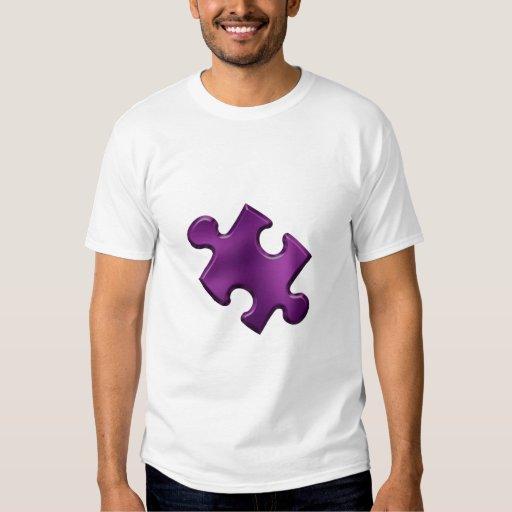 Autism Puzzle Piece Purple T-shirts