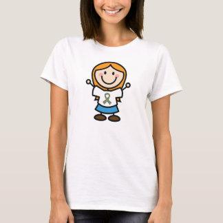 Autism Puzzle Piece Ribbon Stick Figure T-Shirt