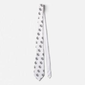 Autism Puzzle Piece Silver Neck Tie