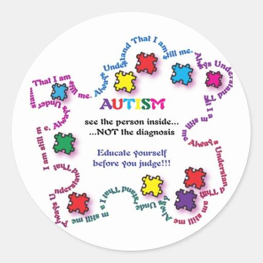 Autism Puzzle Piece Stickers