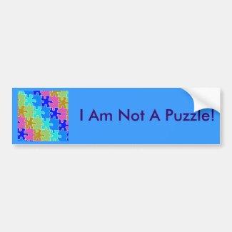 autism puzzle pieces 2 bumper stickers