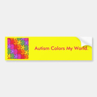 autism puzzle pieces 33 bumper sticker