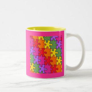 autism puzzle pieces 33 Two-Tone coffee mug