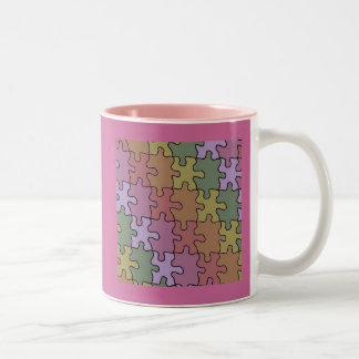 autism puzzle pieces 35 Two-Tone coffee mug