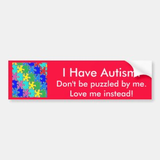 autism puzzle pieces 40 bumper stickers