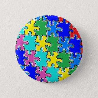 autism puzzle pieces 40 pinback button