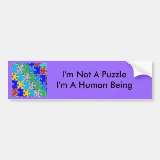 autism puzzle pieces 41 bumper sticker