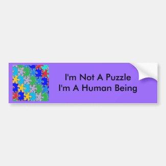 autism puzzle pieces 41 bumper sticker
