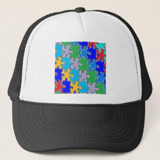 autism puzzle pieces 41 trucker hat