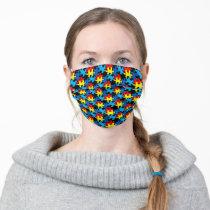 Autism Puzzle Pieces Cloth Face Mask